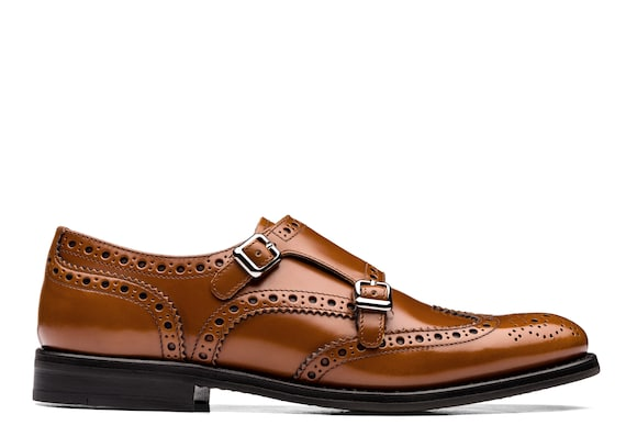 Church's Lana r Monk Brogue in Pelle di Vitello Spazzolato Sandalwood