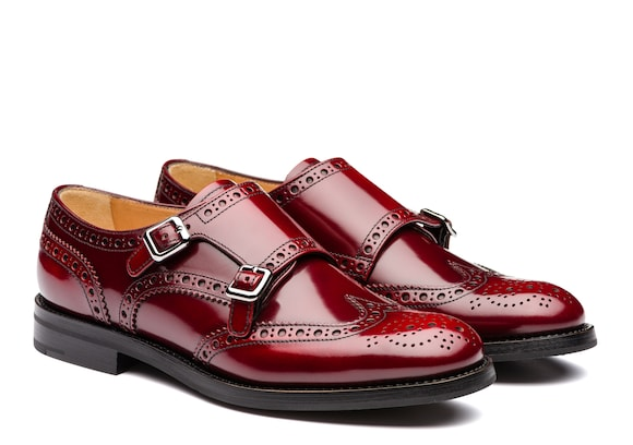 Church's Lana r Monk Brogue in Pelle di Vitello Spazzolato Cherry