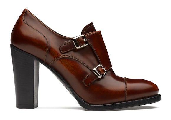 Church's true Polished Fumè Heeled Monk Strap