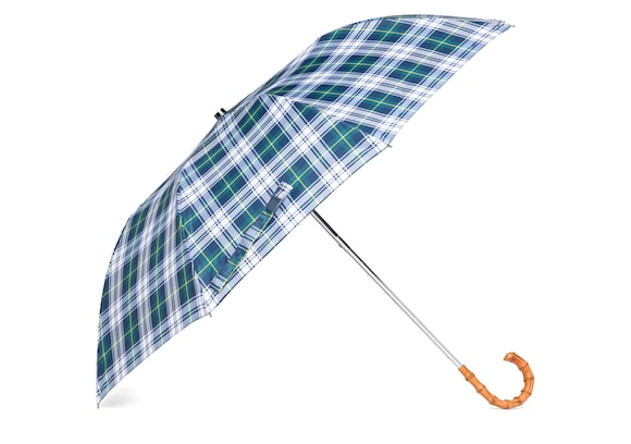 Church's Telescopic umbrella Tartan Whangee Handle White