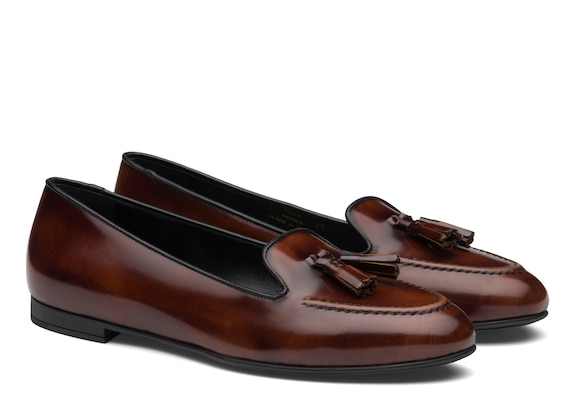 Church's Nina Polished Fumè Tassel Loafer Tabac