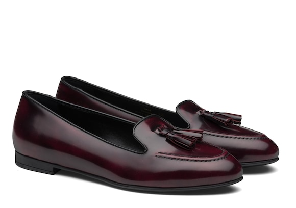 Church's Nina Polished Fumè Tassel Loafer Light burgundy
