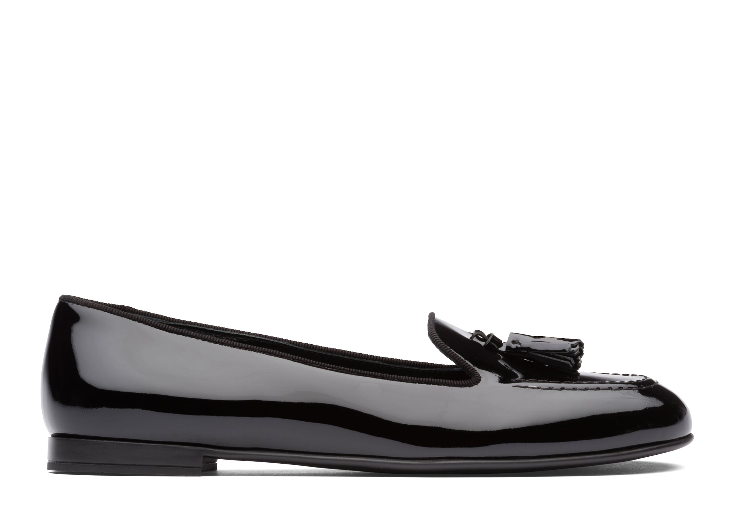 Nina Church's Patent Leather Tassel Loafer Black