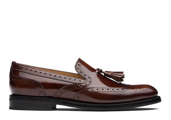 Church's  Polished Fumè Brogue Loafer Tabac