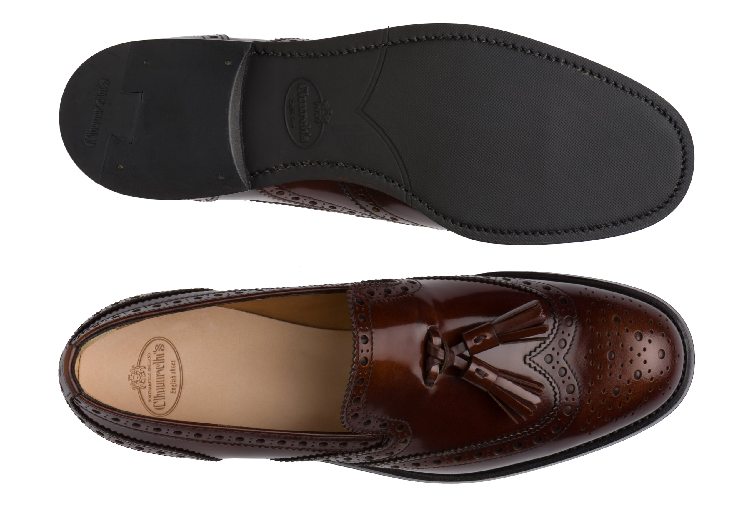 Tamaryn 2 Church's Polished Fumè Brogue Loafer Brown