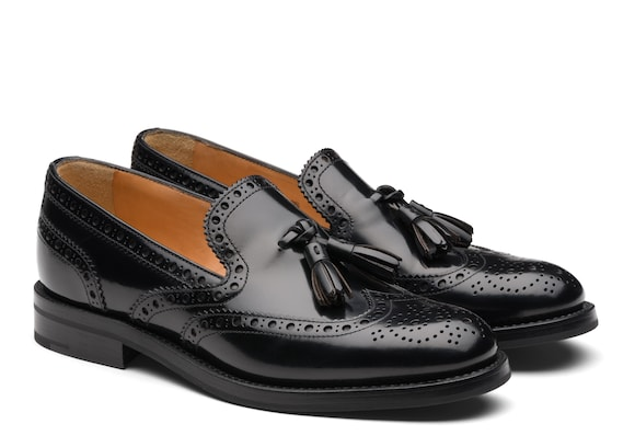 Church's true Polished Binder Brogue Loafer Black