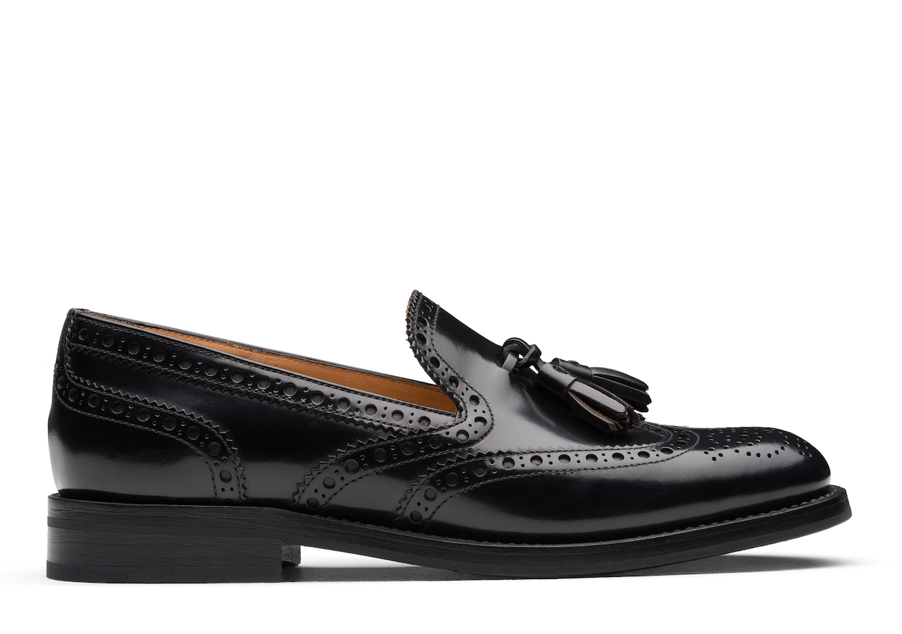 Tamaryn 2 Church's Polished Binder Brogue Loafer Black