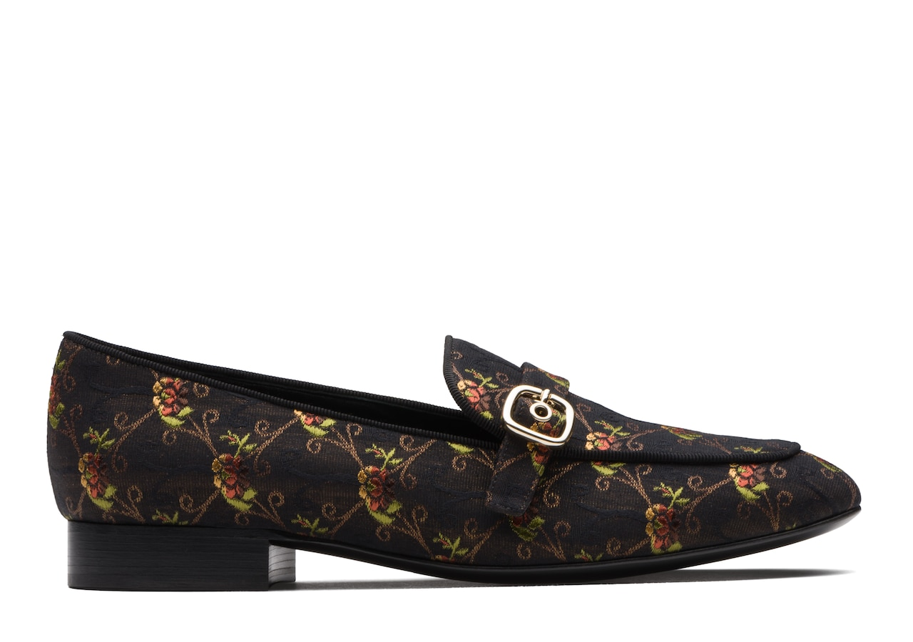 Blanche Church's Jaquard Buckle Loafer Black