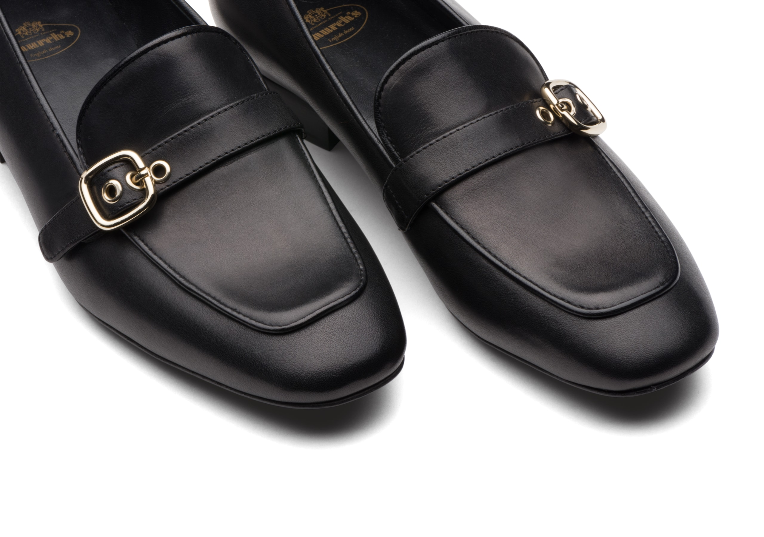 Blanche Church's Calf Leather Buckle Loafer Black