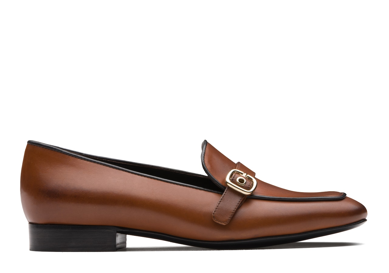 Blanche Church's Calf Leather Buckle Loafer Brown