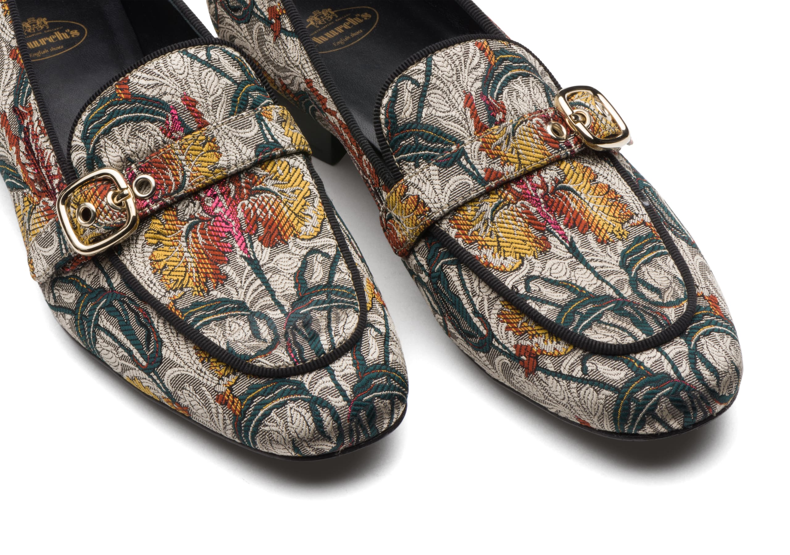 Blanche Church's Jaquard Bouquet Buckle Loafer Neutral