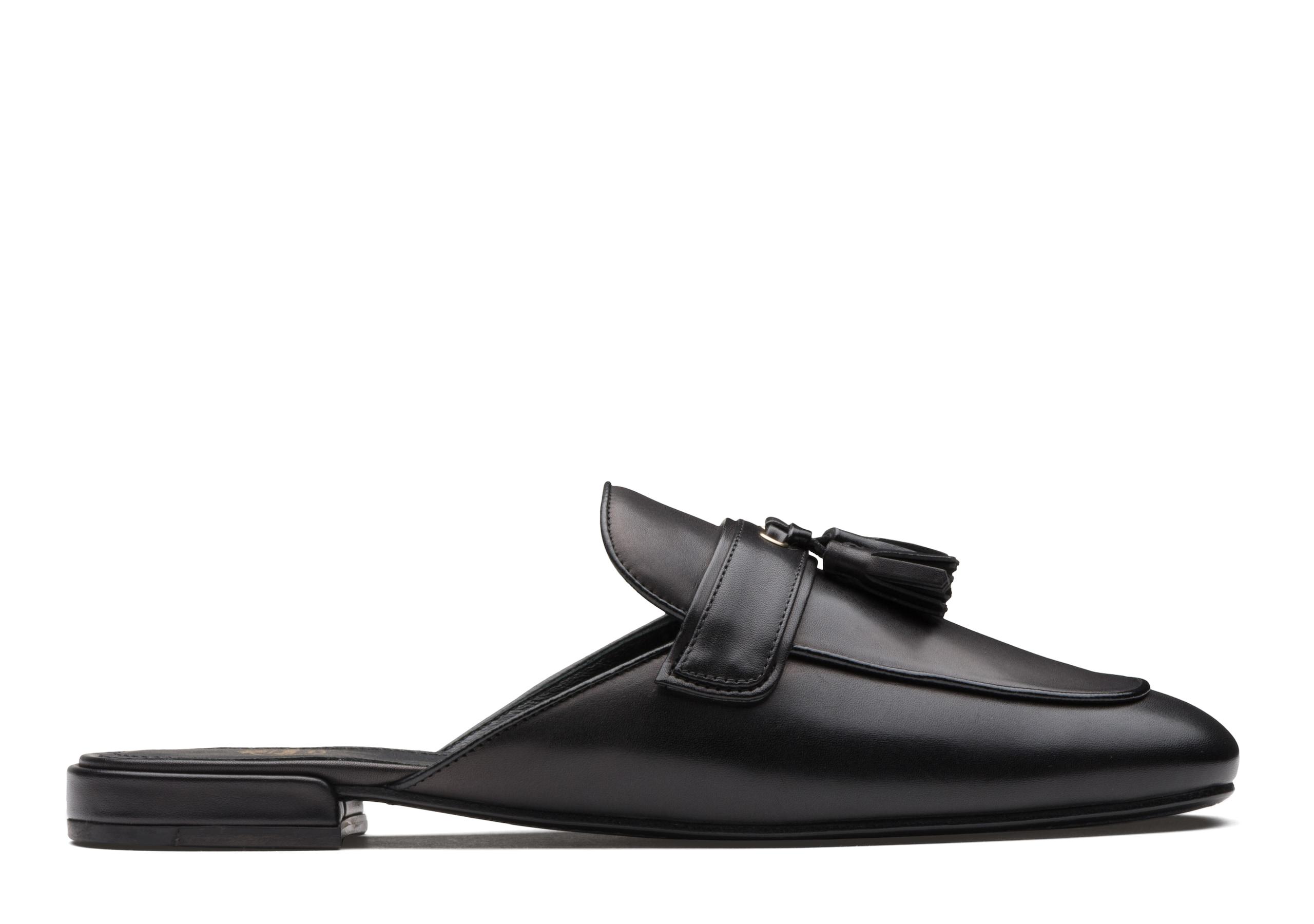Brigitta Church's Calf Leather Tassel Mule Black