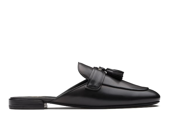 Church's true Calf Leather Tassel Mule Black