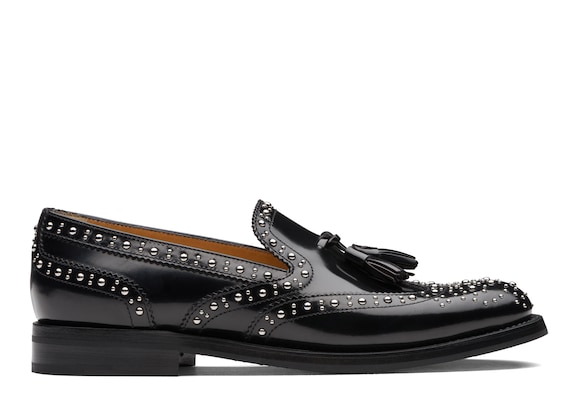 Church's Tamaryn 2 met Polished Binder Brogue Loafer Stud Black
