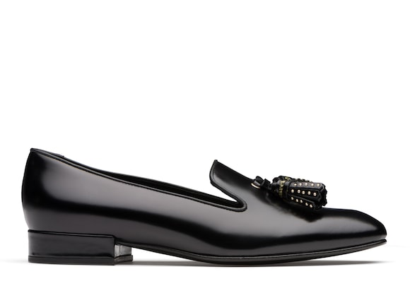 Church's true Polished Fumè Slip On Loafer Black