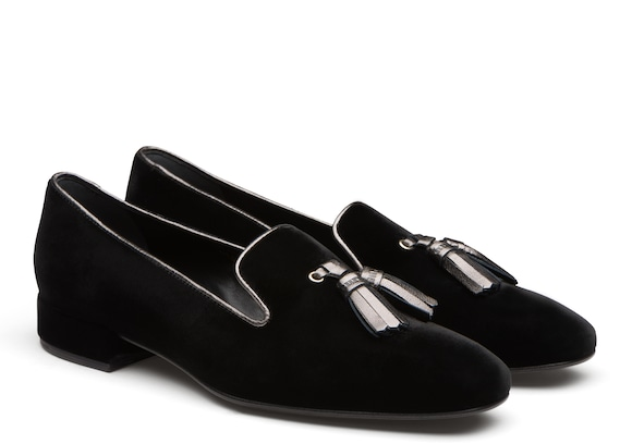 Church's true Mocassino Slip-On in Velluto Nero