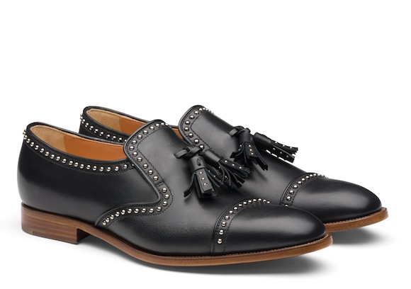 Church's Carolyn met 2 Calf Leather Loafer Stud Black