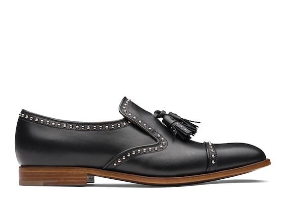 Church's Carolyn met. 2 Calf Leather Loafer Stud Black