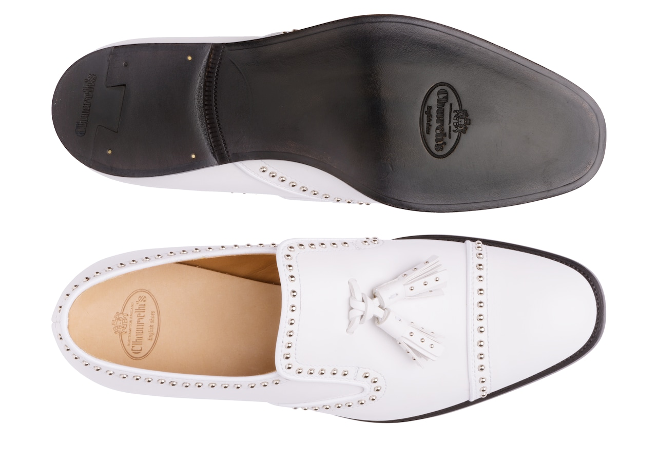 Carolyn met. 2 Church's Calf Leather Loafer White