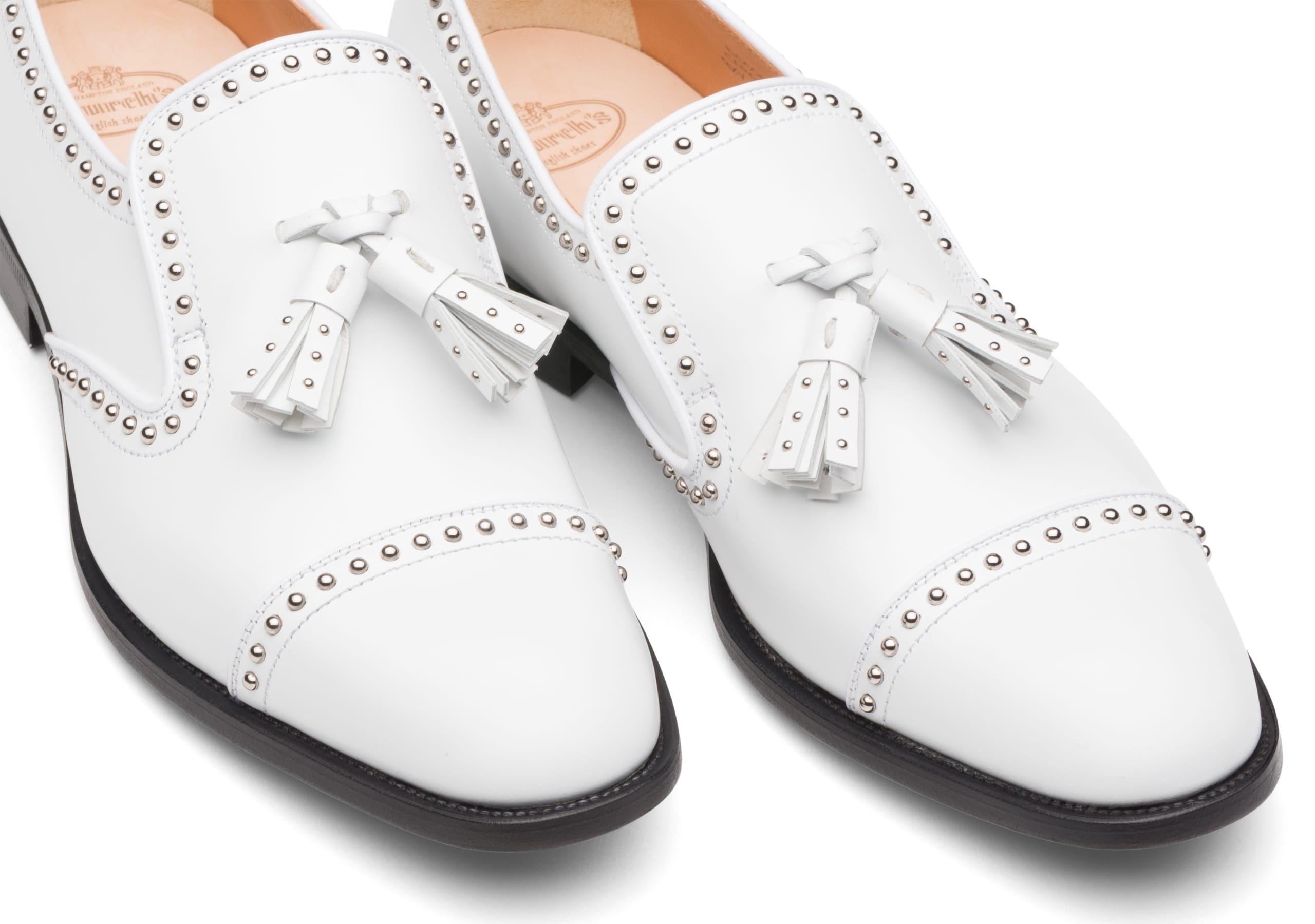 Carolyn met 2 Church's Polished Binder Loafer Stud White