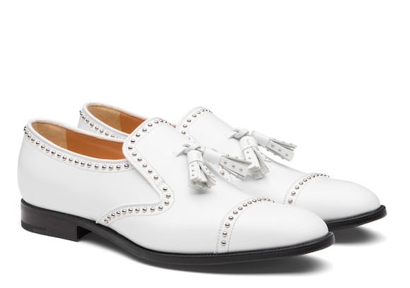 Church's Carolyn met 2 Polished Binder Loafer Stud White