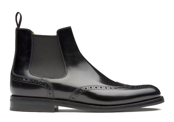 Church's Ketsby wg Polished Binder Brogue Chelsea Boot Black