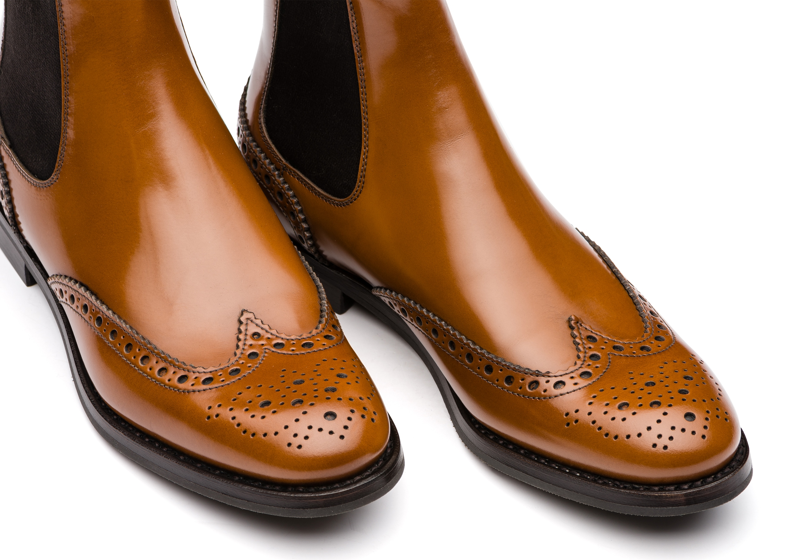 Ketsby wg Church's Polished Binder Brogue Chelsea Boot Brown