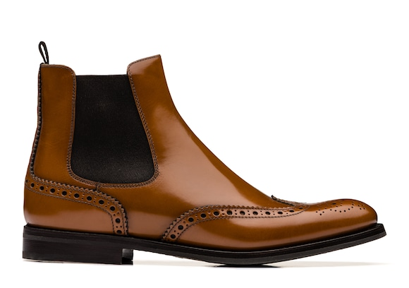 Church's true Polished Binder Brogue Chelsea Boot Sandalwood