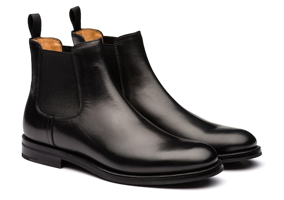 Church's Monmouth wg Stivale Chelsea in Pelle di Vitello Nero