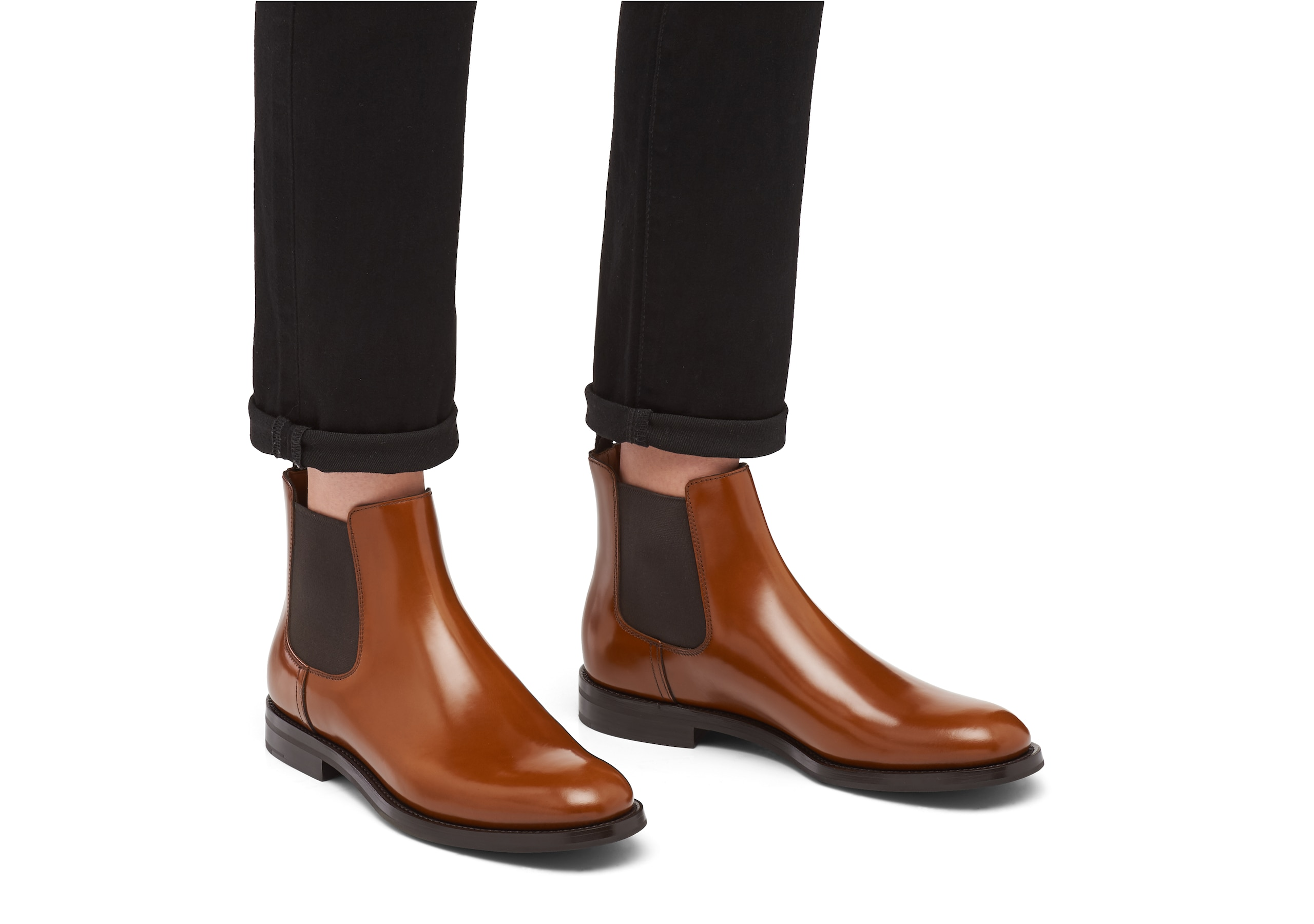 Monmouth wg Church's Polished Binder Chelsea Boot Brown