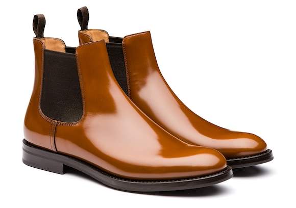 Church's Monmouth wg Polished Binder Chelsea Boot Sandalwood