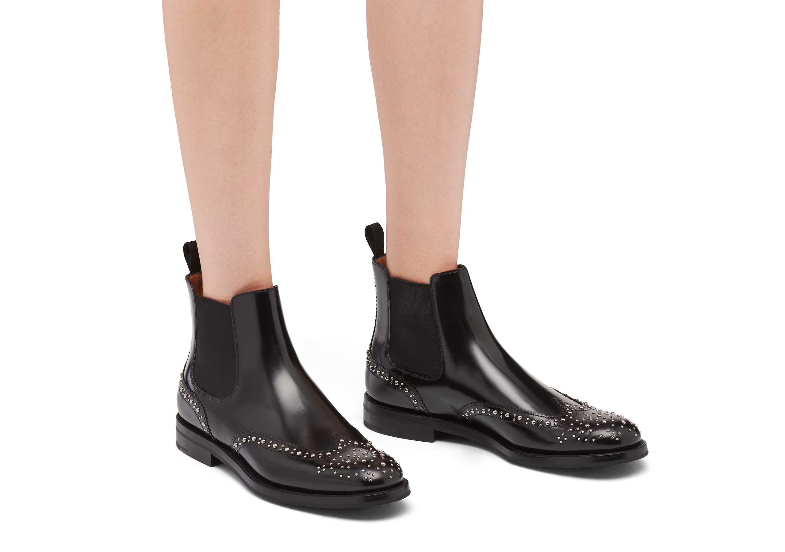 Ketsby met Church's Polished Binder Chelsea Boot  Stud Black