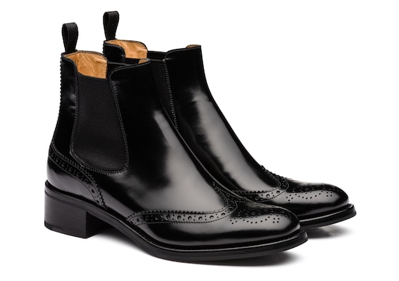 Church's  Polished Fumè Chelsea Boot Brogue Black