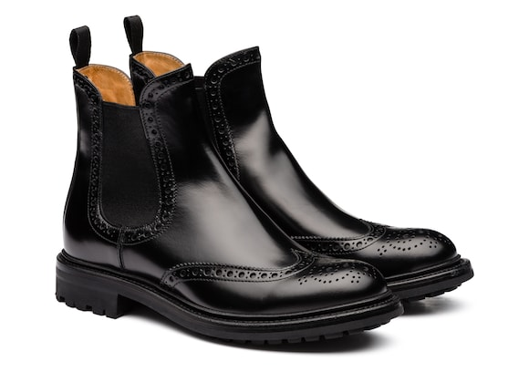 Church's true Rois Calf Chelsea Boot Brogue Black