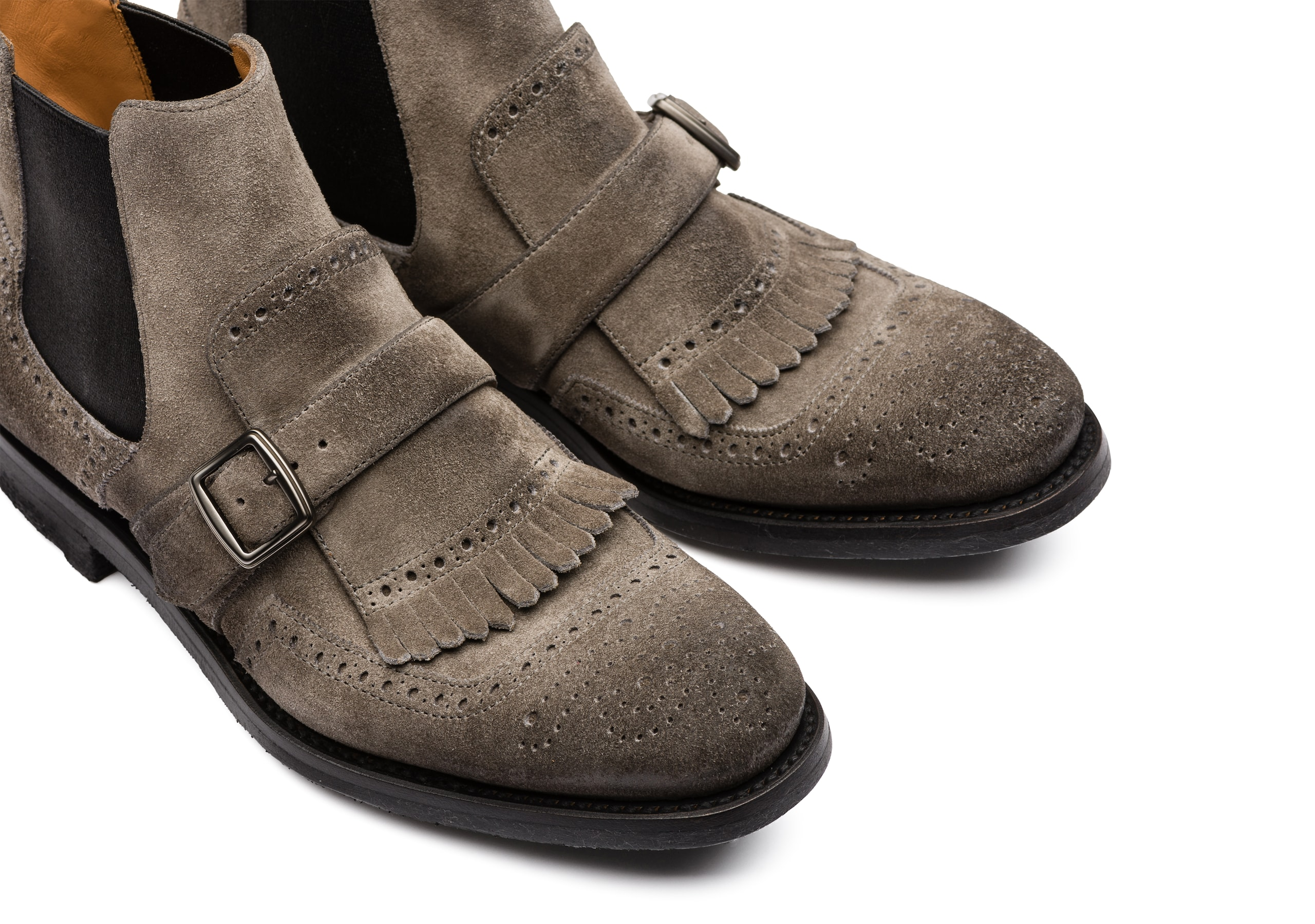 Shanghai 6 w Church's Suede Chelsea Boot Grey