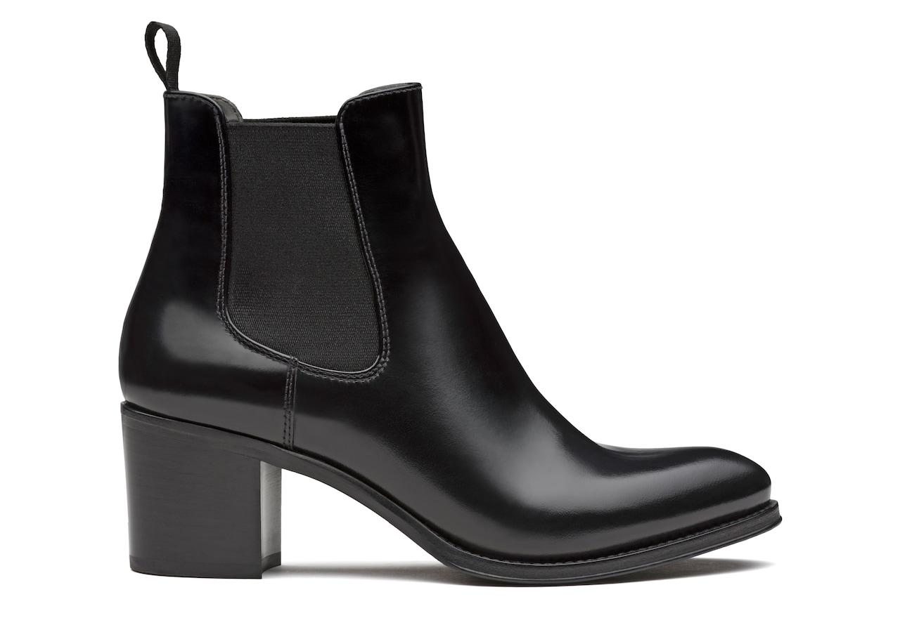 Shirley 55 Church's Polished Fumè Heeled Boot Black