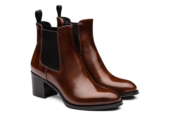 Church's true Polished Fumè Heeled Boot Tabac