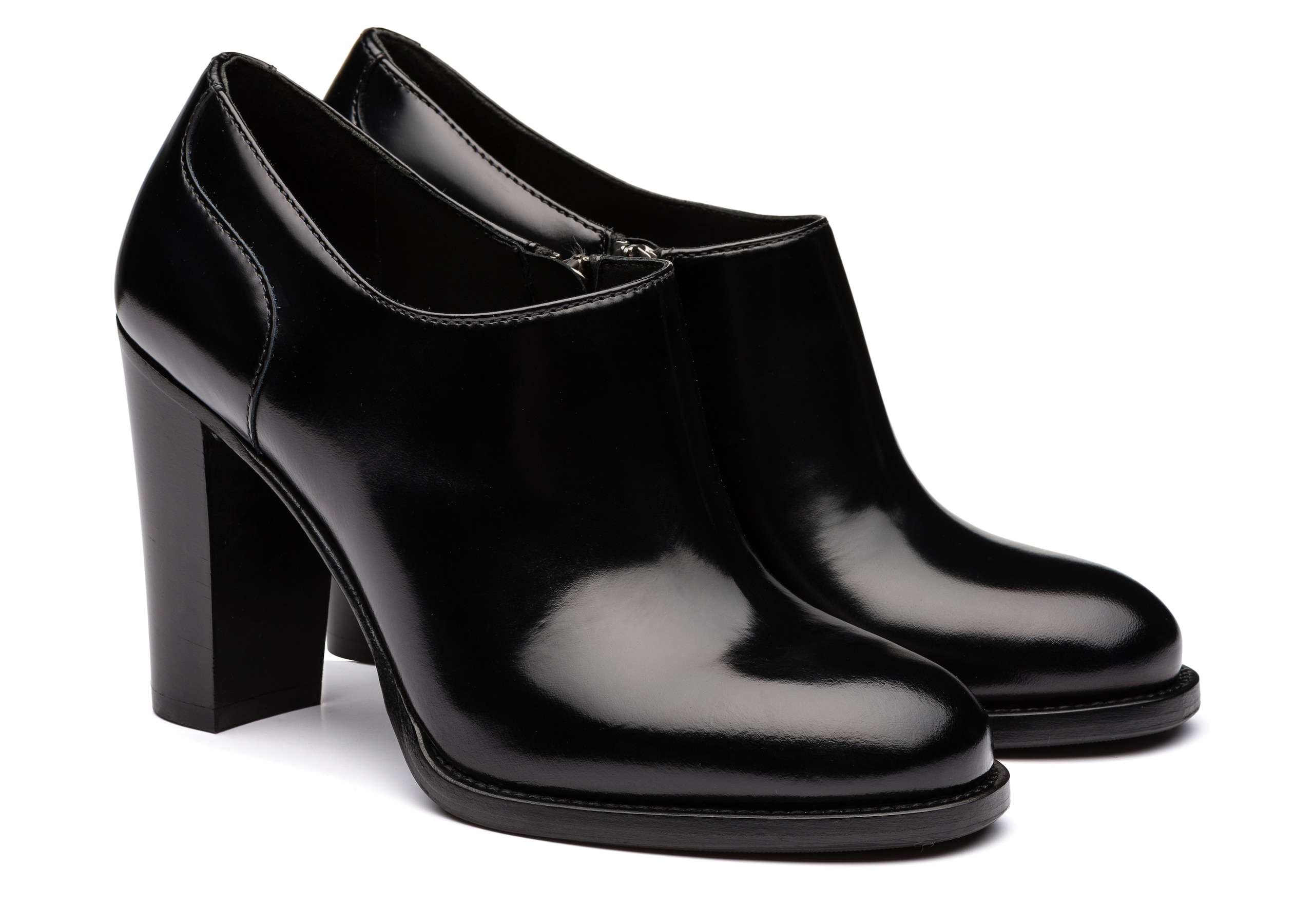 Angie 90 Church's Polished Fumè Heeled Shoe Black