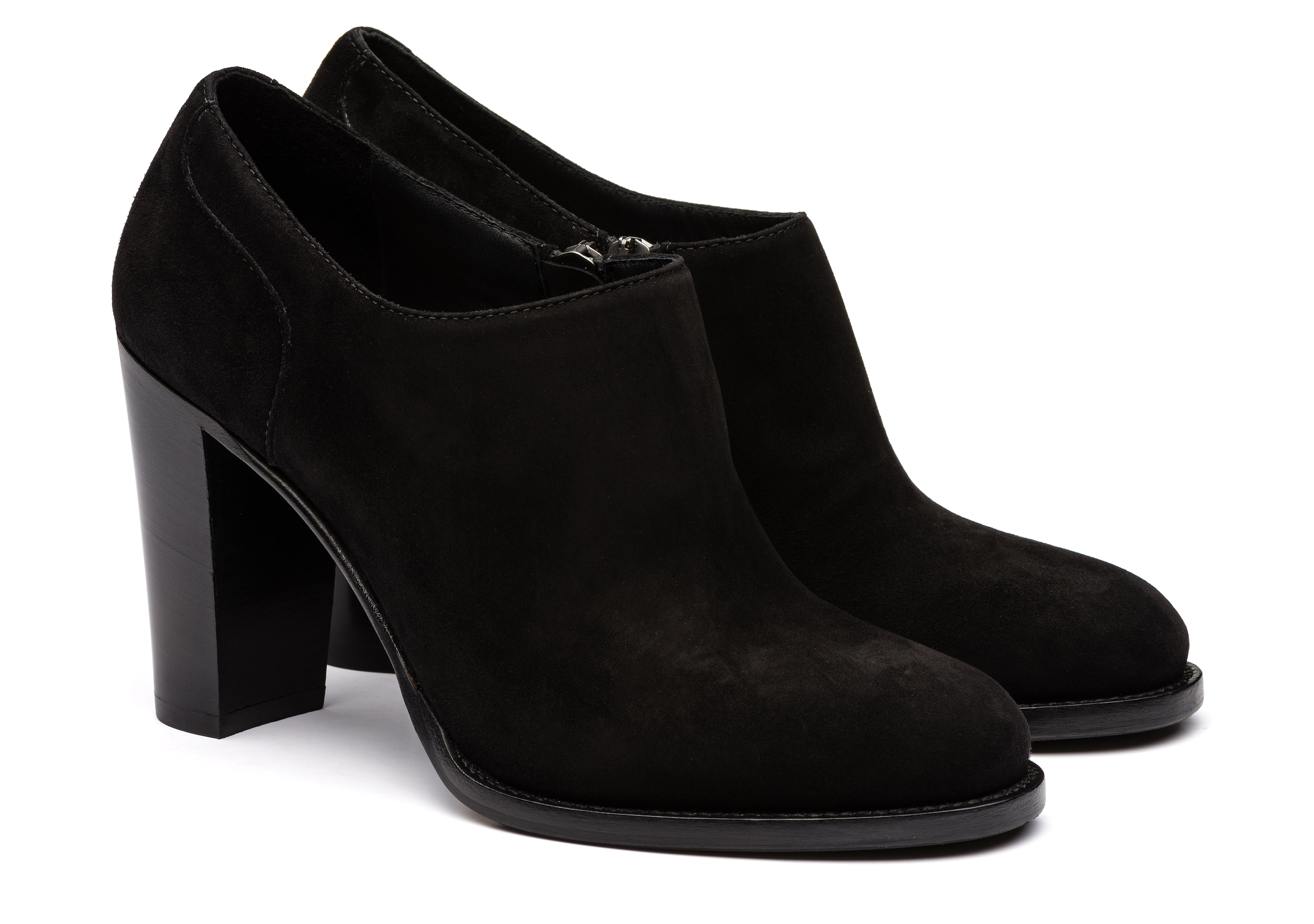 Angie 90 Church's Suede Heeled Shoe Black