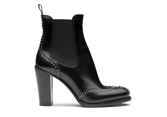 Church's true Polished Fumè Heeled Boot  Stud