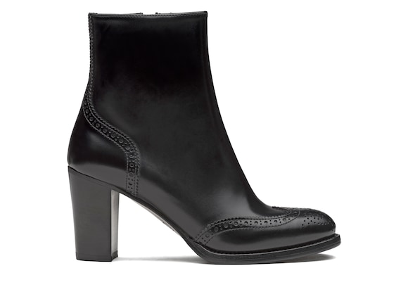 Church's Aida 75 Polished Fumè Heeled Boot Brogue