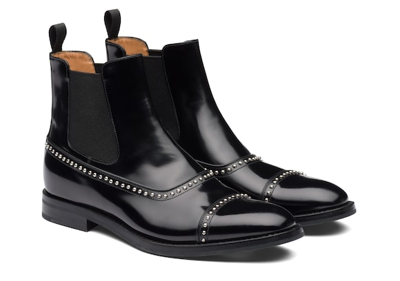Church's  Polished Fumè Chelsea Boot Stud Black