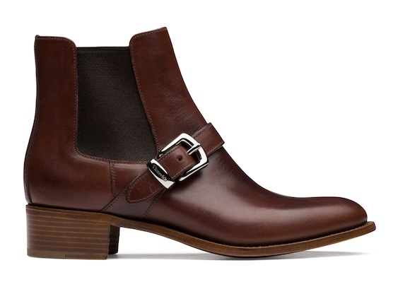 Calf Leather Buckle Chelsea Boot