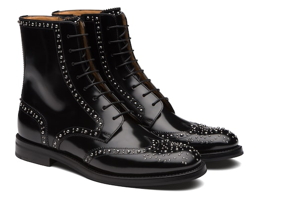 Church's Cora met Polished Binder Lace-Up Boot Stud Black
