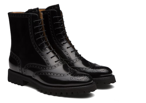 Church's  Polished Binder Lace Up Boot Brogue Black