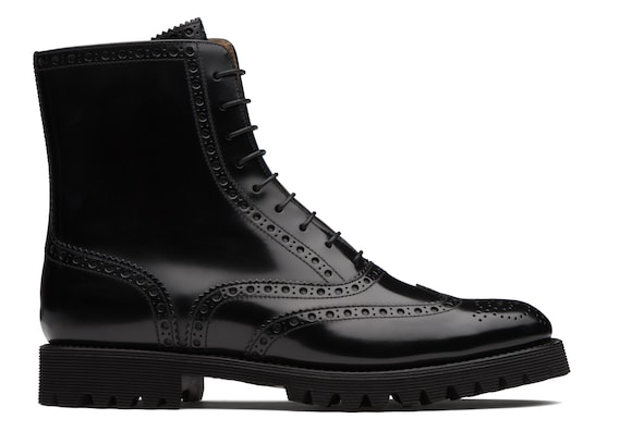 Church's true Polished Binder Lace Up Boot Brogue Black