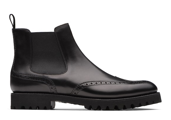 Church's Charlize Stivale Chelsea Brogue in Pelle di vitello Nero
