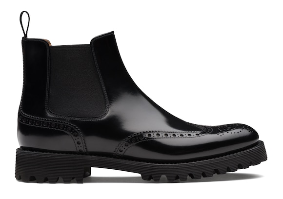Church's Charlize Stivale Chelsea Brogue in Pelle di Vitello Spazzolato