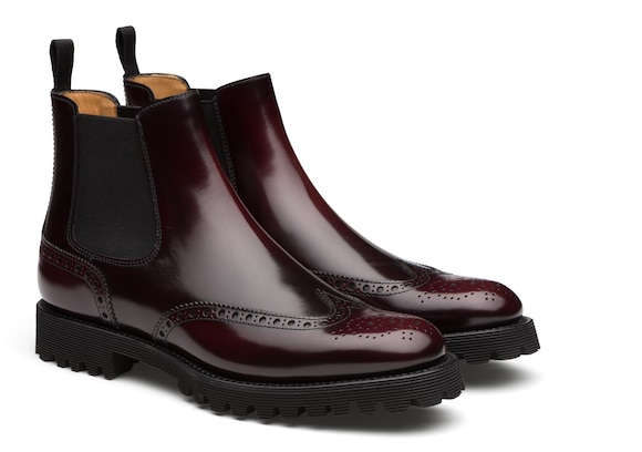 Church's Charlize Polished Binder Chelsea Boot Brogue Burgundy