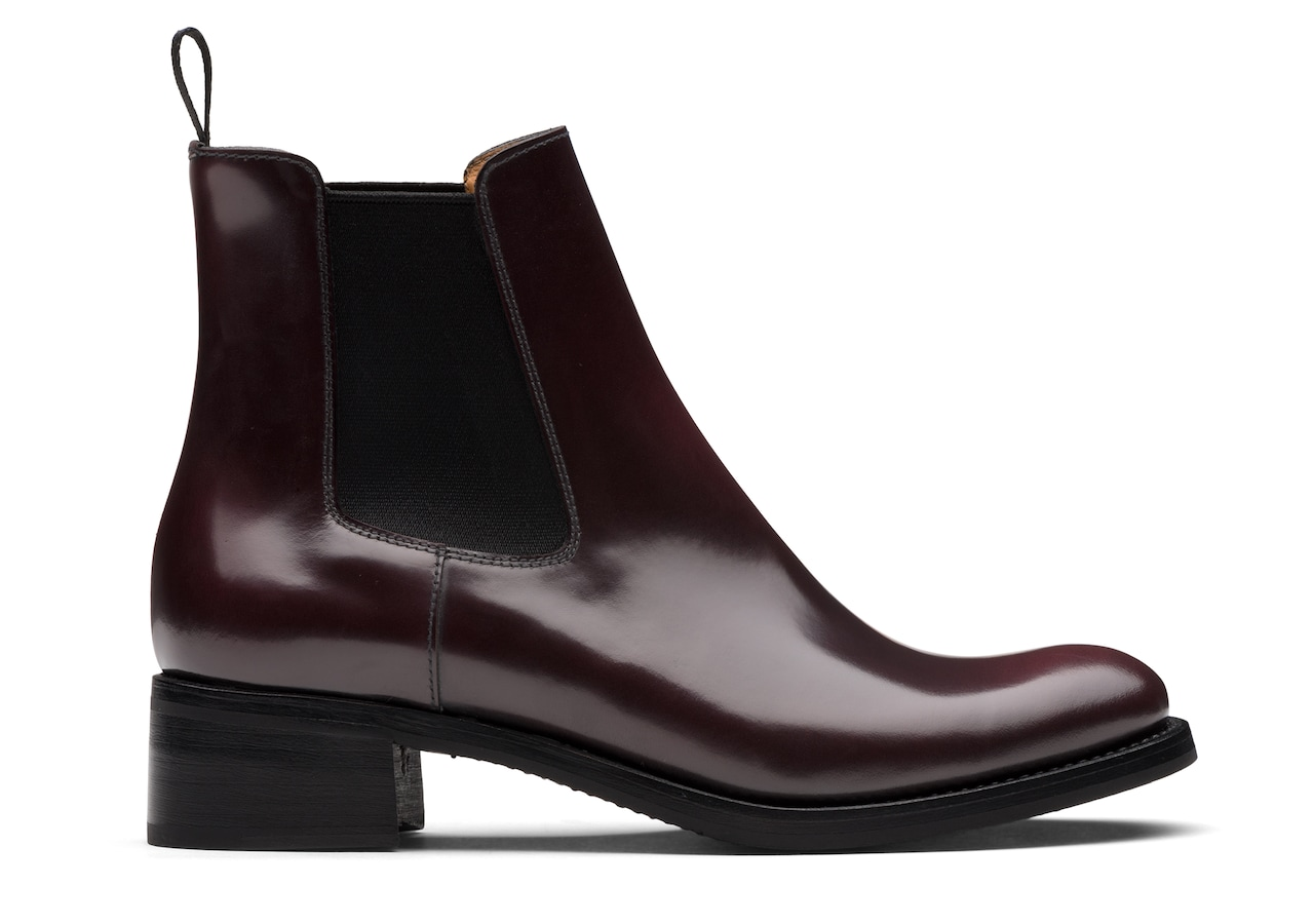 Monmouth 40 Church's Polished Fumè Chelsea Boot Burgundy